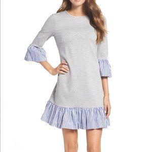 Eliza J Flounce Hem Sweatshirt Dress NWT